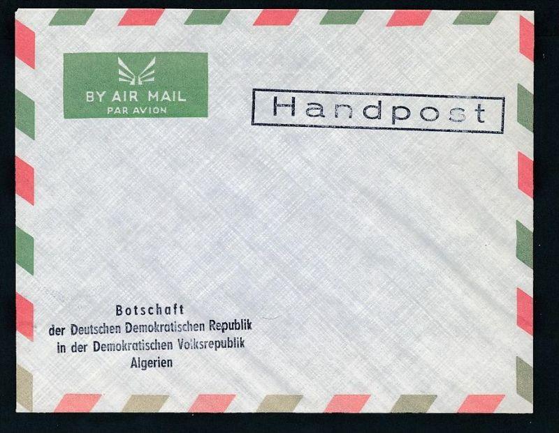 DDR- Dienst/Botschaft Algerien Beleg -HANDPOST sehr selten !! Bitte lesen..    (t4793 ) siehe Bild ! 0