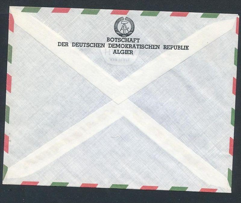 DDR- Dienst/Botschaft Algerien Beleg -HANDPOST sehr selten !! Bitte lesen..    (t4793 ) siehe Bild ! 1