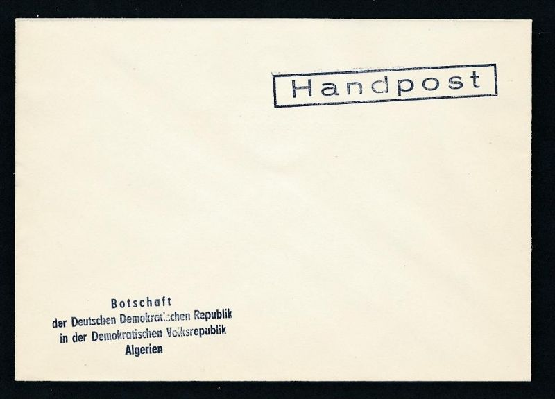 DDR- Dienst/Botschaft Algerien Beleg -HANDPOST sehr selten !! Bitte lesen..    (t4792 ) siehe Bild !