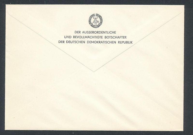 DDR- Dienst/Botschaft Algerien Beleg -HANDPOST sehr selten !! Bitte lesen..    (t4792 ) siehe Bild ! 1