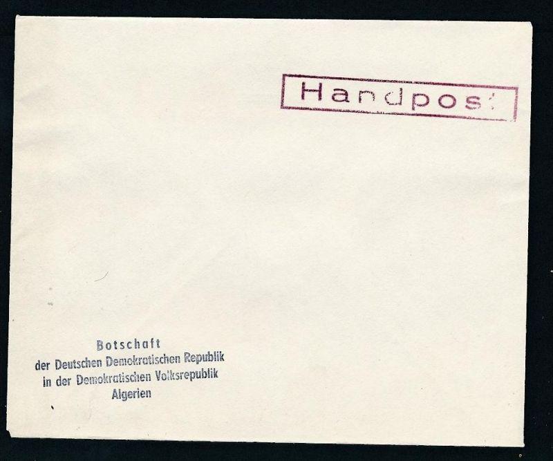 DDR- Dienst/Botschaft Algerien Beleg -HANDPOST sehr selten !! Bitte lesen..    (t4795 ) siehe Bild !