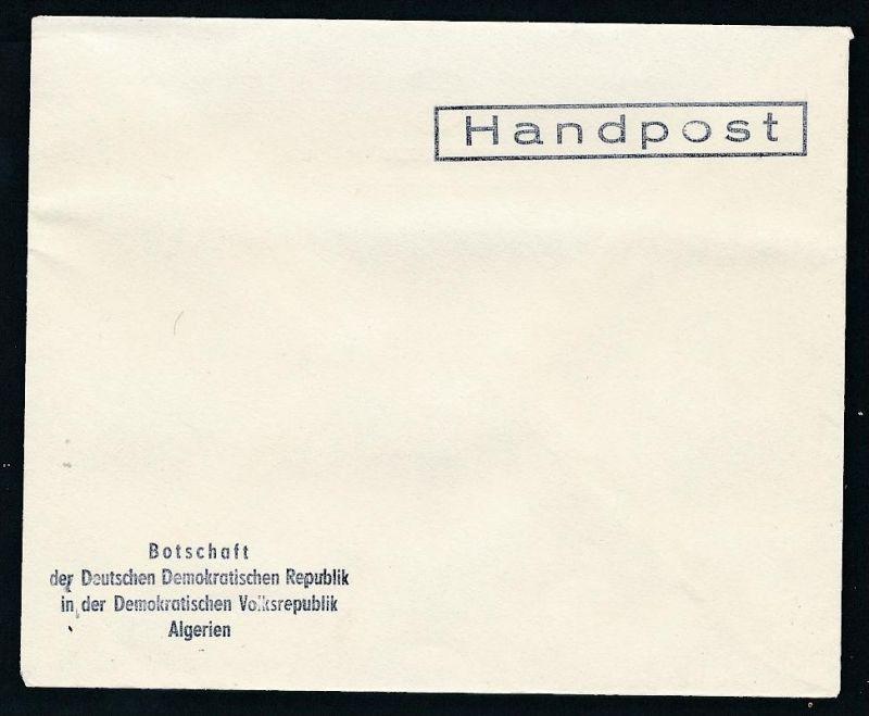 DDR- Dienst/Botschaft Algerien Beleg -HANDPOST sehr selten !! Bitte lesen..    (t4799 ) siehe Bild !