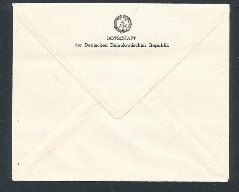 DDR- Dienst/Botschaft Algerien Beleg -HANDPOST sehr selten !! Bitte lesen..    (t4799 ) siehe Bild ! 1