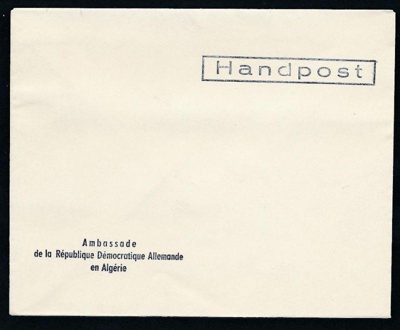 DDR- Dienst/Botschaft Algerien Beleg -HANDPOST sehr selten !! Bitte lesen..    (t4798 ) siehe Bild ! 0