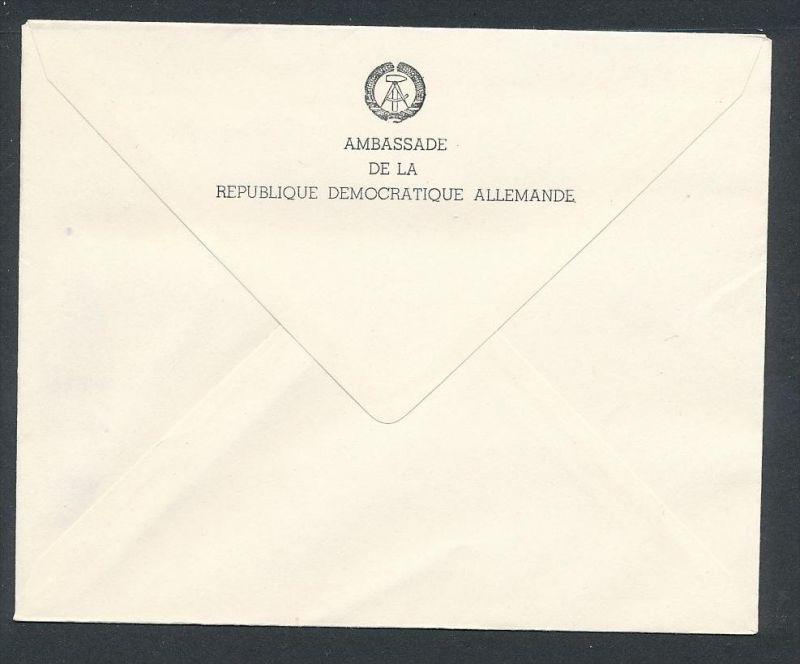 DDR- Dienst/Botschaft Algerien Beleg -HANDPOST sehr selten !! Bitte lesen..    (t4798 ) siehe Bild ! 1