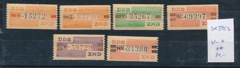 DDR ZKD  Nr. V- X  **   (se3953 ) siehe Bild ! 0