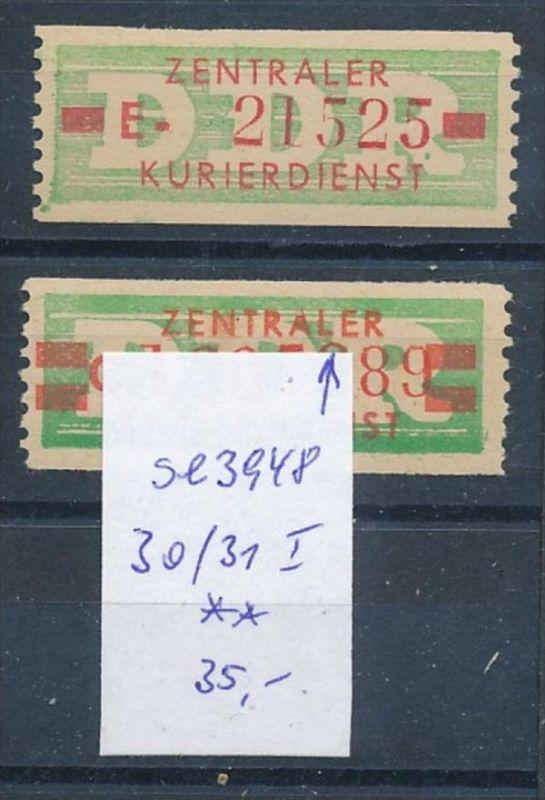 DDR ZKD  Nr. 30+31 I  **   (se3948 ) siehe Bild ! 0