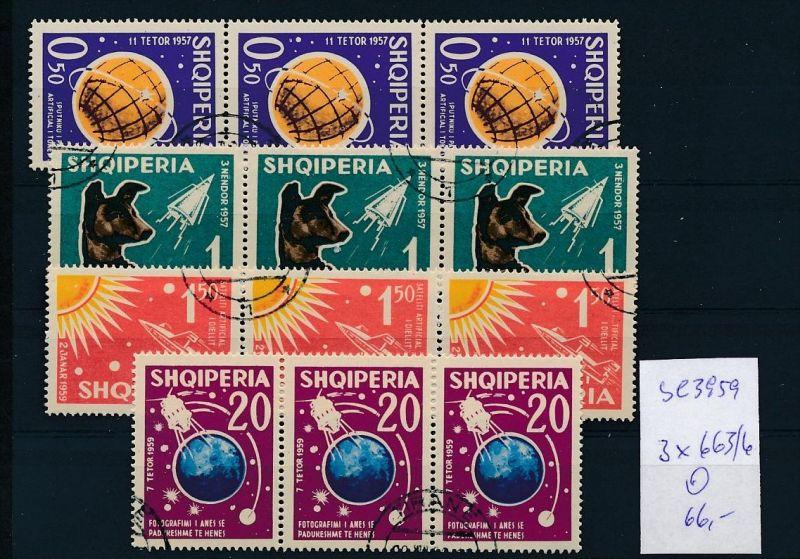Albanien  Nr.  3x 663-66   o  (se3959 ) siehe Bild ! 0
