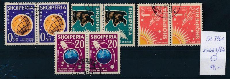 Albanien  Nr.  2x 663-66   o  (se3960 ) siehe Bild ! 0