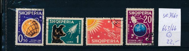 Albanien  Nr.   663-66   o  (se3961 ) siehe Bild ! 0