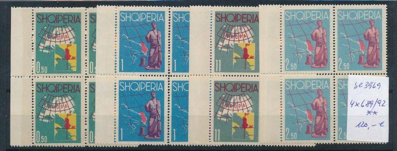 Albanien  Nr. 4x689-92   **  (se3969 ) siehe Bild !