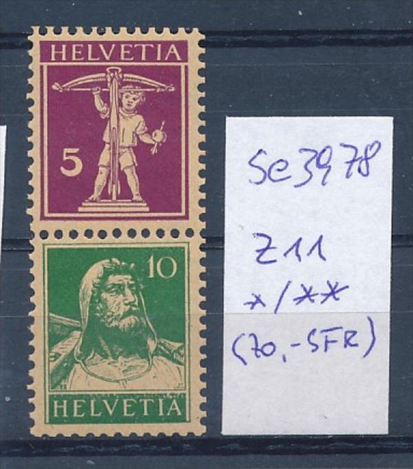 Schweiz  Nr.  z11     (se3978 ) siehe Bild ! 0