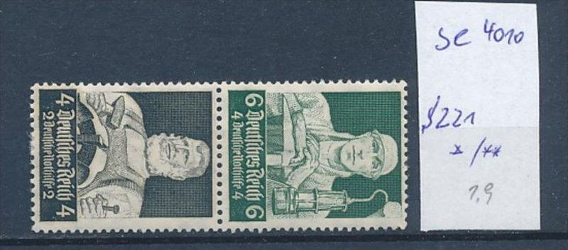 D.-Reich Zusammendruck  s221    (se4010  ) siehe Bild ! 0