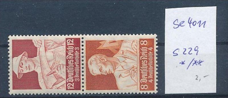 D.-Reich Zusammendruck  s229    (se4011  ) siehe Bild ! 0
