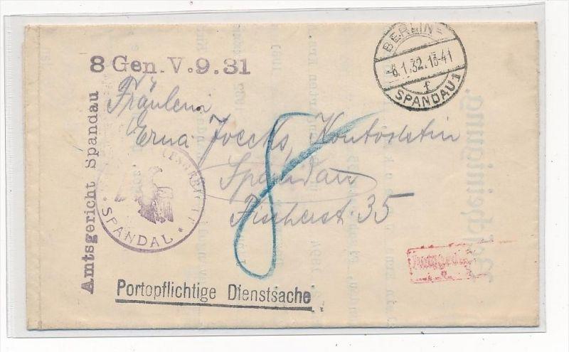 Berlin Dienst   alter Beleg....  (g4507   ) siehe Bild ! 0