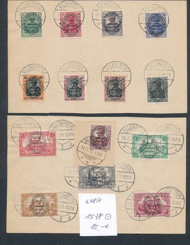 Allenstein Nr. 15-28  o Top-Serie    (t4817 ) siehe Bild !