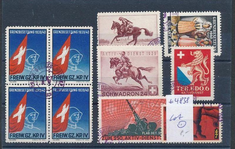 Schweiz Lot Soldaten Marken.....   (t4838 ) siehe Bild !