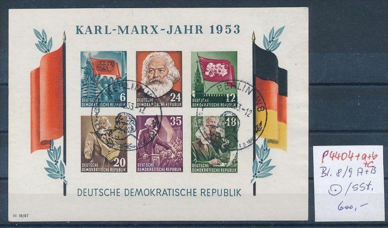 DDR Block 8/9 A+B  o 4 Marx Blocks 1953.. (p4404 ) siehe Bild ! 0