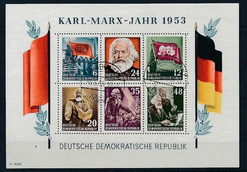 DDR Block 8/9 A+B  o 4 Marx Blocks 1953.. (p4404 ) siehe Bild ! 1