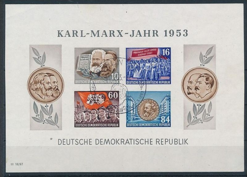 DDR Block 8/9 A+B  o 4 Marx Blocks 1953.. (p4404 ) siehe Bild ! 2