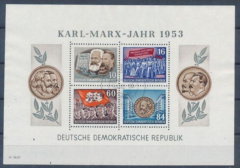 DDR Block 8/9 A+B  o 4 Marx Blocks 1953.. (p4404 ) siehe Bild ! 3