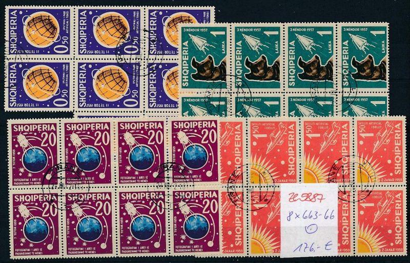 Albanien  encros  8x 663-66  o (ze5887 ) siehe Bild !