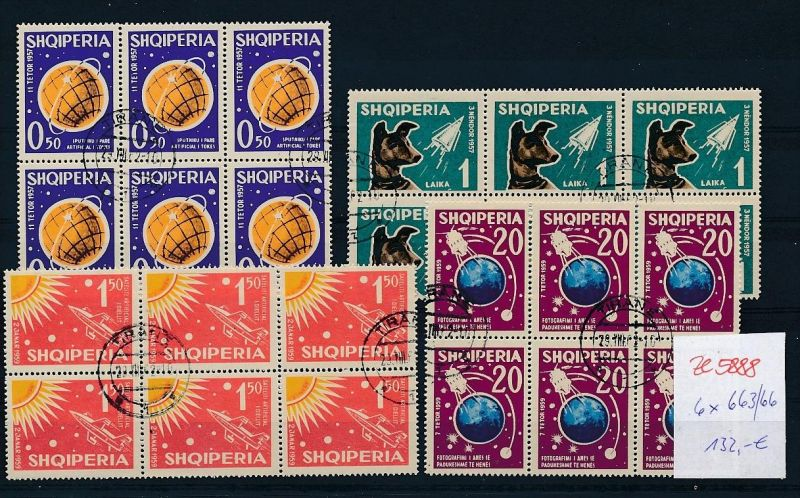 Albanien  encros  6 x 663-66  o (ze5888 ) siehe Bild !