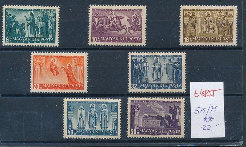 Ungarn Nr. 571-75 Marken aus Block ** (t4855  ) siehe Bild !