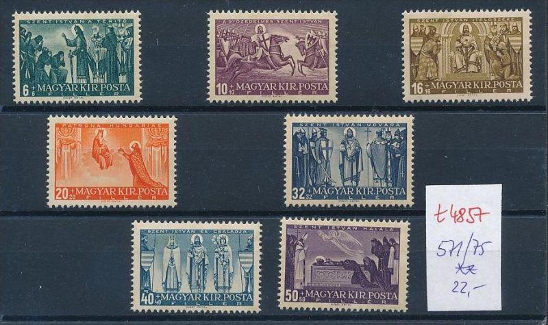 Ungarn Nr. 571-75 Marken aus Block ** (t4857  ) siehe Bild !