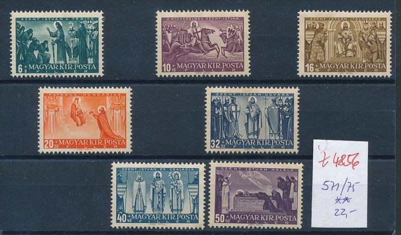 Ungarn Nr. 571-75 Marken aus Block ** (t4856  ) siehe Bild !