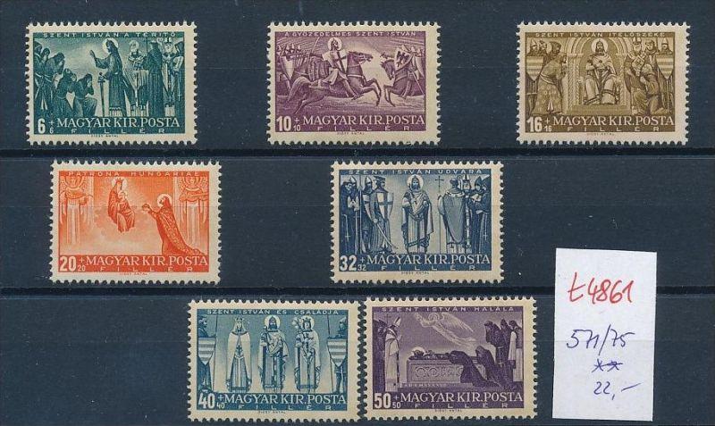 Ungarn Nr. 571-75 Marken aus Block ** (t4861  ) siehe Bild !