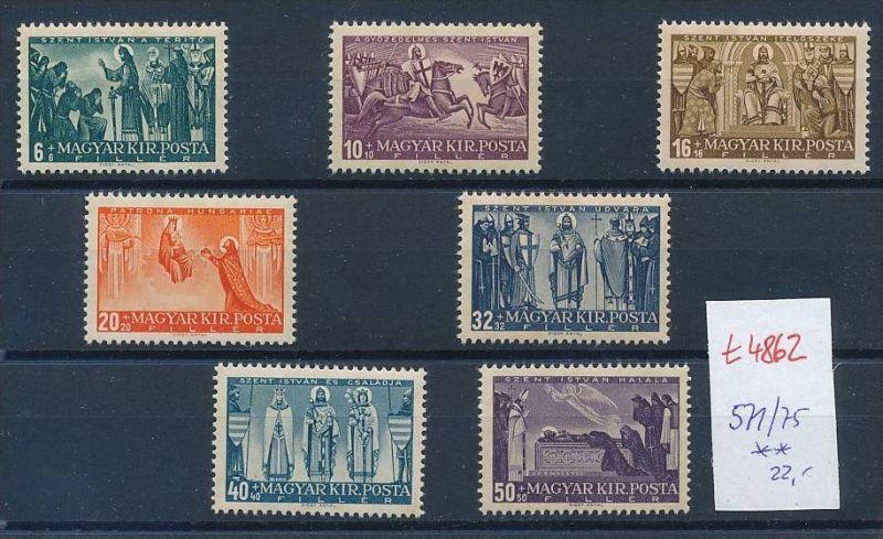 Ungarn Nr. 571-75 Marken aus Block ** (t4862  ) siehe Bild !