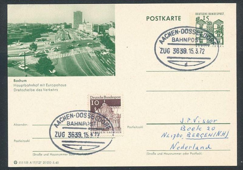 BRD- Bahnpost Stempel-Beleg  (t4987) siehe Bild ! 0