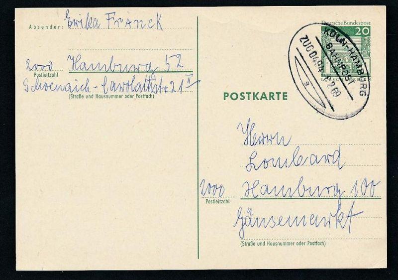 BRD- Bahnpost Stempel-Beleg  (t4986  ) siehe Bild ! 0