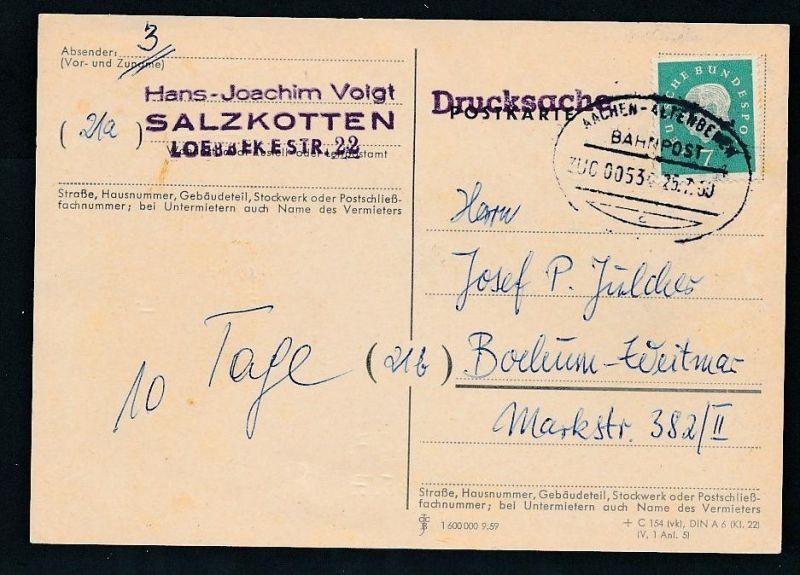 BRD- Bahnpost Stempel-Beleg  (t4983  ) siehe Bild ! 0