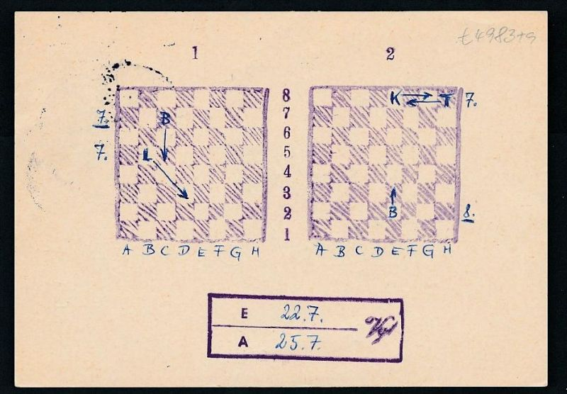 BRD- Bahnpost Stempel-Beleg  (t4983  ) siehe Bild ! 1