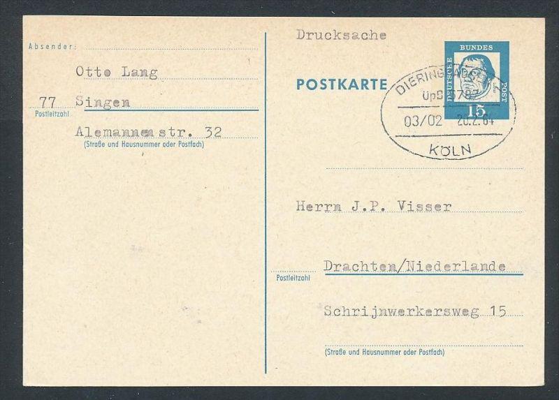 BRD- Bahnpost Stempel-Beleg  (t4977  ) siehe Bild ! 0