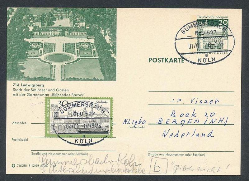 BRD- Bahnpost Stempel-Beleg  (t4974  ) siehe Bild ! 0