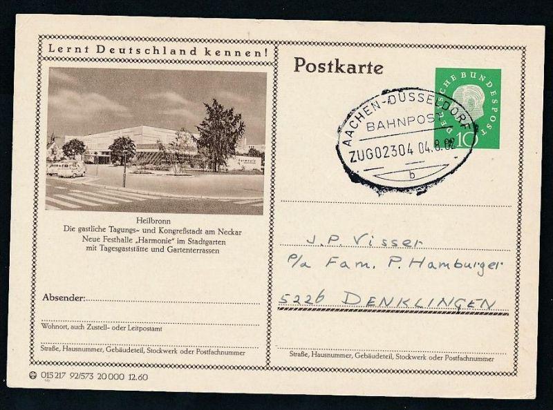 BRD- Bahnpost Stempel-Beleg  (t4969  ) siehe Bild ! 0
