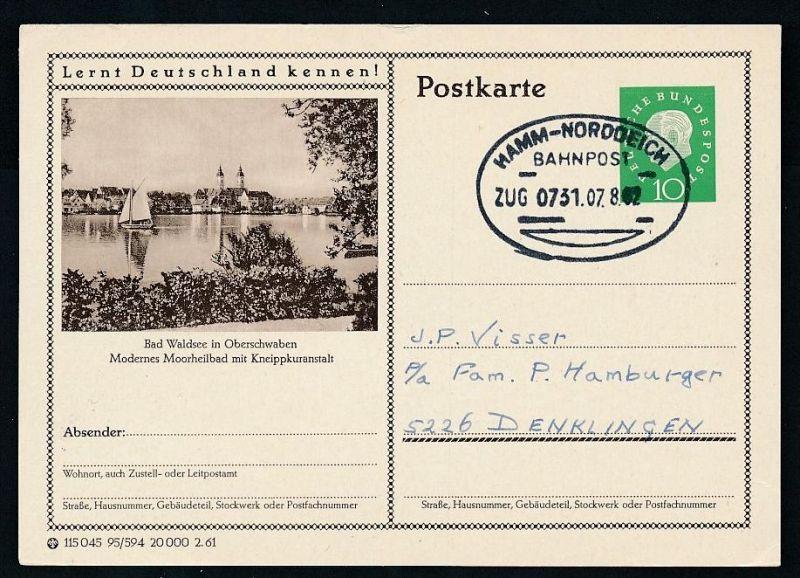 BRD- Bahnpost Stempel-Beleg  (t4962  ) siehe Bild ! 0