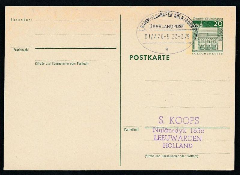 BRD- Bahnpost Stempel-Beleg  (t4960  ) siehe Bild !