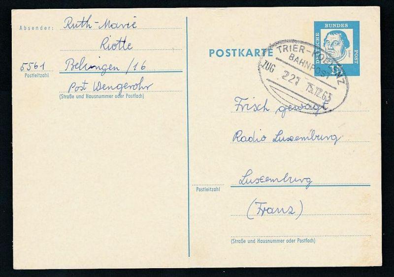 BRD- Bahnpost Stempel-Beleg  (t4989  ) siehe Bild ! 0
