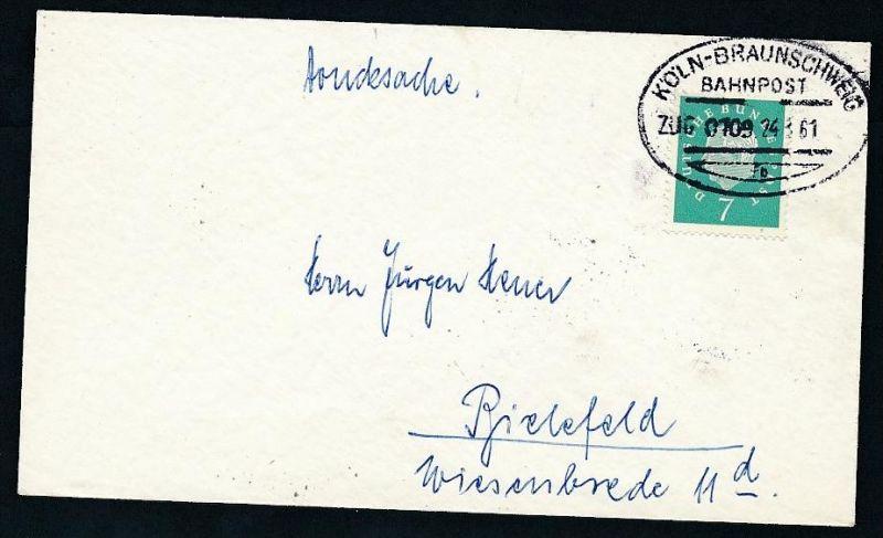 BRD- Bahnpost Stempel-Beleg  (t4945  ) siehe Bild !
