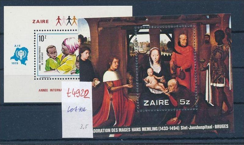 Zaire  **  Lot   (t4922  ) siehe Bild !