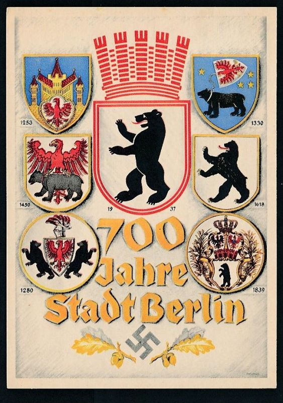 D.-Reich - Prpaganda -Berlin  -Karte ( t4914 ) siehe scan