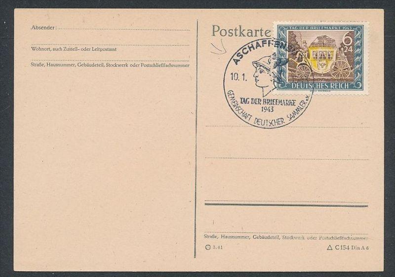 D.-Reich - 828 FDC /Stempel !! -Karte ( t4884 ) siehe scan