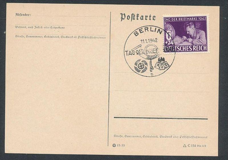 D.-Reich - 811  FDC /Stempel !! -Karte ( t4886 ) siehe scan