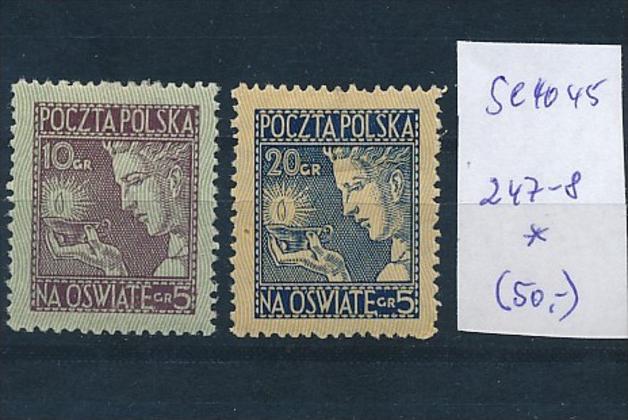 Polen Nr. 247-8  * ( se4045 ) siehe scan 0