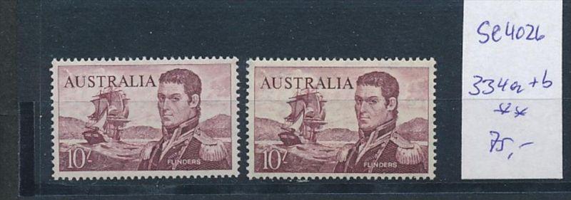 Australien Nr. 334 a+b  **( se4026 ) siehe scan 0