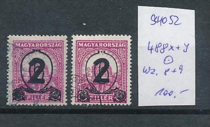 Ungarn  Nr. 488 x+y  o  ( t4052 ) siehe scan 0